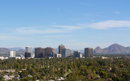 Birds eye view of Phoenix valley, AZ Stock Photos