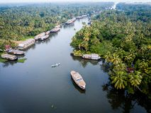 Aerial photo of Alappuzha India. Birds eye view photo of Alappuzha, India Royalty Free Stock Photography