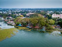 Aerial photo of Kochi in India. Birds eye view photo of Kochi in India stock photography