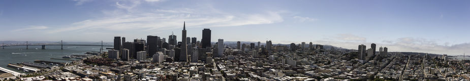 Birds eye view of an San Francisco Royalty Free Stock Photo