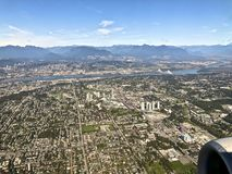 Vancouver city scape. Birds eye view of some sections of Vancouver Canada stock photos