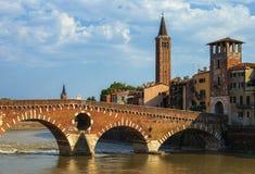 Birds eye view on Verona town Royalty Free Stock Photography