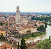 Birds eye view on Verona town Royalty Free Stock Image
