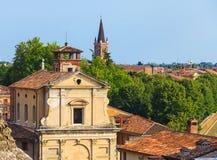 Birds eye view on Verona town Royalty Free Stock Photo