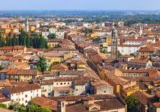 Birds eye view on Verona town Royalty Free Stock Photos