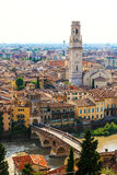 Birds eye view on Verona town Stock Images
