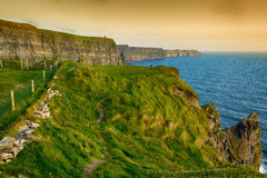Birds eye views from the cliffs of moher in county clare ireland Royalty Free Stock Photography