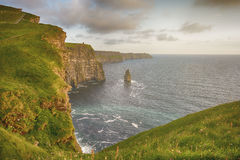 Birds eye views from the cliffs of moher in county clare ireland Royalty Free Stock Photos