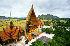 Birds eyes view of Wat Tum Seua (tiger cove temple) Kanchanburi Stock Image