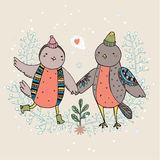 Birds are falling in love Royalty Free Stock Photography