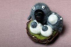 Birds Family Nest Stock Images