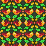 Birds and feather seamless pattern Royalty Free Stock Image