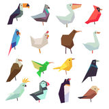 Birds in flat style vector collection Stock Images