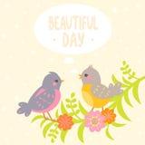 Birds flat Stock Image