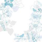 Birds Floral Background Vector Design Royalty Free Stock Image