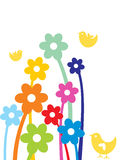 Birds with flower, mothers day Royalty Free Stock Images