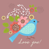 Birds and flowers Royalty Free Stock Photos