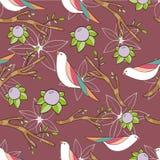 Birds in flowers Stock Images
