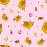 Birds in flowers. Stock Images