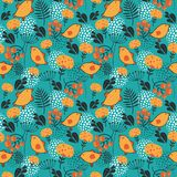 Birds and flowers seamless pattern. Stock Image