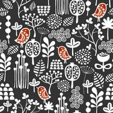 Birds and flowers seamless pattern. Royalty Free Stock Images