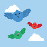 Birds Flying Colors Stock Image