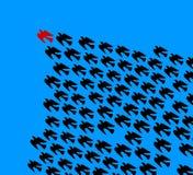 Birds Flying. Illustration, leadership concept royalty free illustration