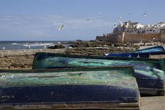 Historical city of essaouira in morocco royalty free stock photo