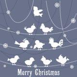 Birds forming Christmas Tree Stock Photos