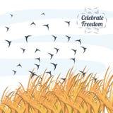 Freedom lifestyle design. Birds of freedom lifestyle and raised theme Vector illustration Stock Photos