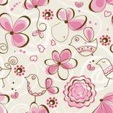 Birds garden seamless pattern Stock Photography