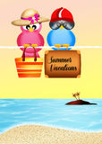 Birds go on vacation Royalty Free Stock Image