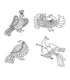 Birds  graphic ornament Stock Photography