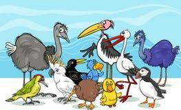 Birds group cartoon illustration Stock Photo