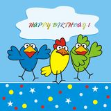 Birds - happy birthday Stock Images