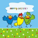Birds - happy easter Stock Images