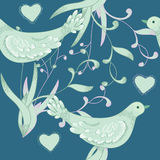 Birds and hearts Stock Photography