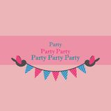 Birds Holding Bunting For Party Stock Photo