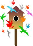 Birds house Royalty Free Stock Images