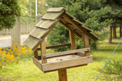Birds house and feeder Stock Photos