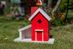 A birds house Stock Images