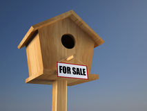 Birds house for sale Royalty Free Stock Photo