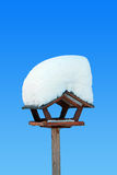 Birds house with snow covered Stock Image
