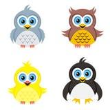 Birds icons Stock Photos