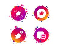 Birds icons. Social media speech bubble. Vector vector illustration