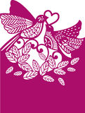 Birds. Illustration. Laser cutting template. Birds. Decorative  illustration. Can be used for laser cutting Stock Image