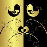 Birds In Love, Vector Stock Image