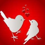 Birds kissing on Valentine's Day Royalty Free Stock Photo