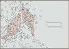 Birds- line drawing Stock Photos