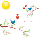 Birds_and_love Fotos de Stock Royalty Free